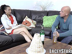 LACEYSTARR - black honey shares penis before internal ejaculation