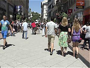 Eurobabe Aika May ambling naked in public