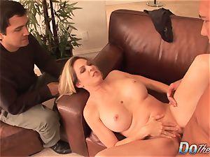 Cuck witnesses wifey Angela Attison Do anal invasion