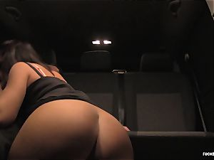 FuckedInTraffic - super hot backseat hookup for a Czech brunette