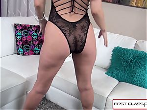 Aaliyah love sucks and pummel a huge cock in pov style