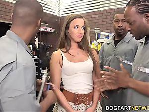 Amirah Adara deep-throats An entire squad Of ebony studs