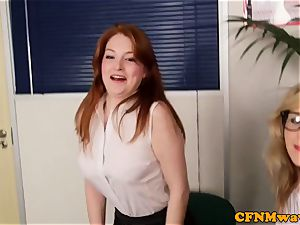 CFNM ginger female domination humiliate manager in office