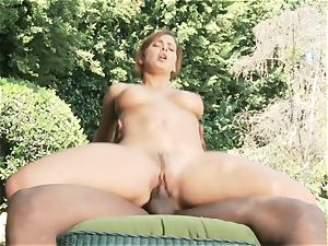 Keisha Grey outdoor bi-racial fuckin'