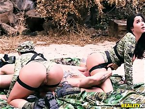 Angela white, Karlee Grey - sizzling army tarts with fat milk cans