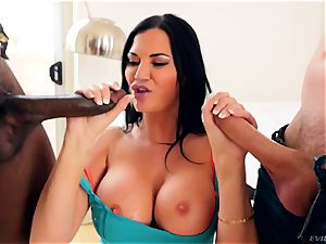 spectacular curvaceous body and big star mounds Jasmine Jae fellates best