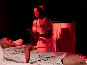 Behind the gigs with luxurious nurse flesh Diamond