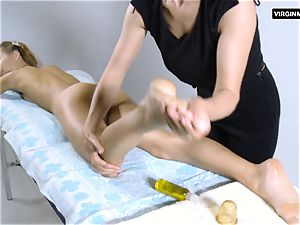 Lika Volosatik sexy wooly massage