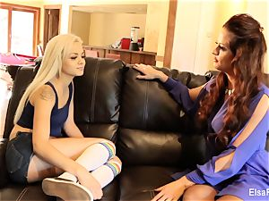 Elsa receives a lesson from her big-boobed lecturer Holly