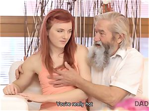 DADDY4K. stud and his aged dad crew up to punish sex-positive girlfriend