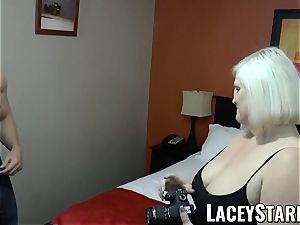 LACEYSTARR - GILF tempts enormous dicked hairy man into pummeling
