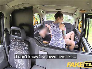 fake cab moist milky panties in throat and screwed rock hard