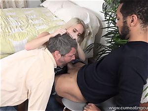 Cadence Lux Makes snatch hubby tongues dudes jism