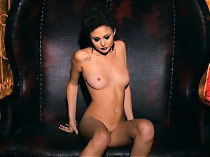 slim petite Ariana Marie handsome rubber solo masturbation