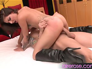 Airerose Aimee dark-hued demonstrates off her ideal plump culo