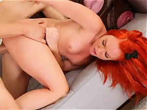 whore Dani Jensen gets poked up her axe wound