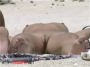 The most excellent arse on the nudist beach