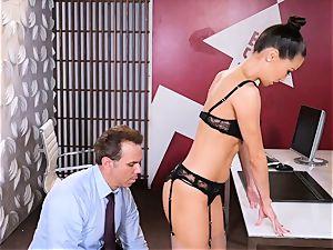 boss Kalina Ryu gets boned throughout her office desk