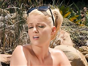 The Getaway Pt 3 flashing killer lezzies Dillion Harper and Charlotte Stokely