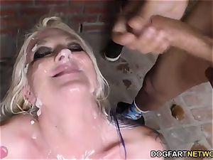Leya Falcon bj's and deep throats many black dicks