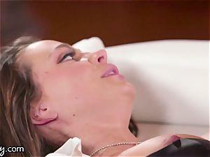 Girlsway Kissa Sins is steamy for Officer Abigail Mac
