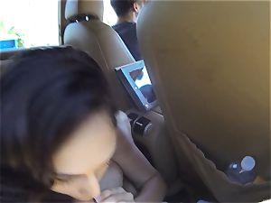ultra-kinky Ariana Marie plows 2 hard-ons in public