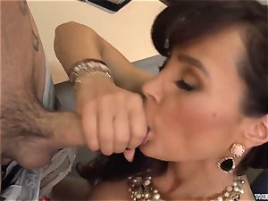 An expert 50-year-old educator Lisa Ann has fuck-a-thon with her young college girl in class