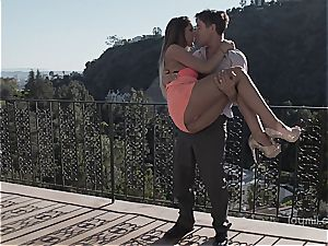 fantastic dime piece August Ames makes passionate love to a stud