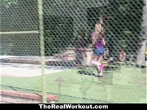 TheRealWorkout Kimber Lee pulverized By Her Soccer Coach
