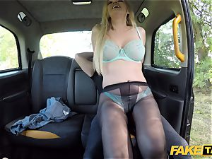 faux taxi british light-haired hotty Amber Jayne