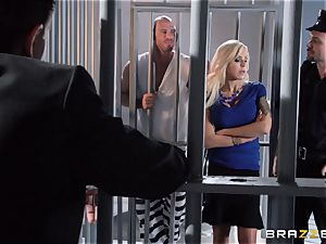 Nina Elle plows a beautiful con in front of her cuckold hubby