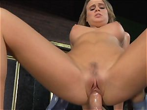 Alexis Adams pummels the chief in the bar