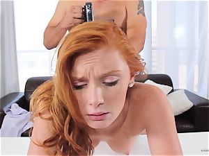 sandy-haired Alex Tanner munched out at her audition