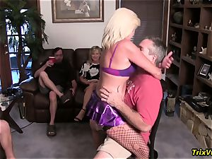 Stripper at the bday party with Ms Paris Rose