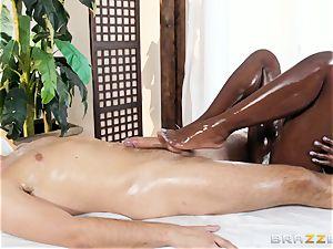 Kerian Lee tucks his lubed manmeat into steaming ebony honey Ana Foxxx