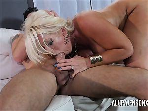 enormous tit cougar Alura Jenson enjoys fucking junior guys