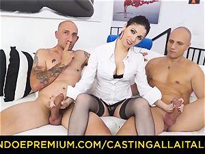 casting ALLA ITALIANA - super hot cougar has double ass fucking fun
