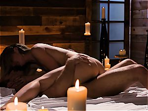 Mona Wales has a romantic love session with her super-sexy boy