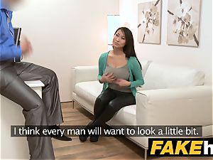 faux Agent hefty boobs asian wants rock-hard fuck