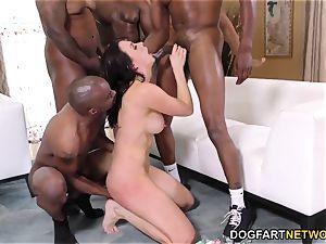 bi-racial gangbang and double penetration with Chanel Preston