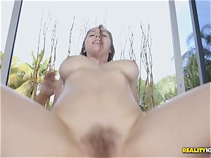 uber-sexy Lena Paul is greased up and indeed kinky