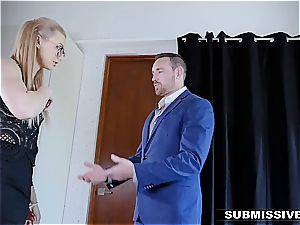 warm light-haired plays a bad chick at the office and gets spanked