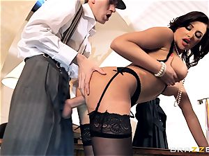 insatiable girls Anna Polina deep throats and boinks a enormous penis