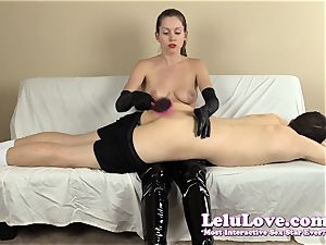 femdom smacking his booty with my hairbrush palms..