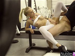 Fit nubile Alex Grey Yoga pants torn And fucked S1:E2
