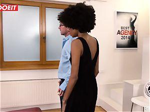 LETSDOEIT - ebony nubile pops numerous Times At audition