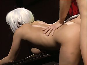 Charley chase is a platinum haired pulverize doll