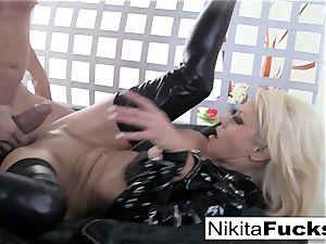 big-boobed Nikita romps a yam-sized shaft