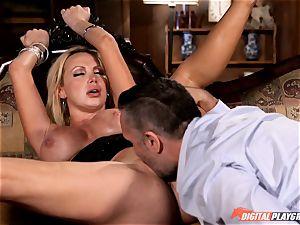 super-naughty Nikki Benz swallows down a immense manhood
