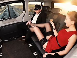 banged IN TRAFFIC - british Tina Kay torn up in the car